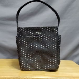Thirty-one  grey dot storage tote with handle